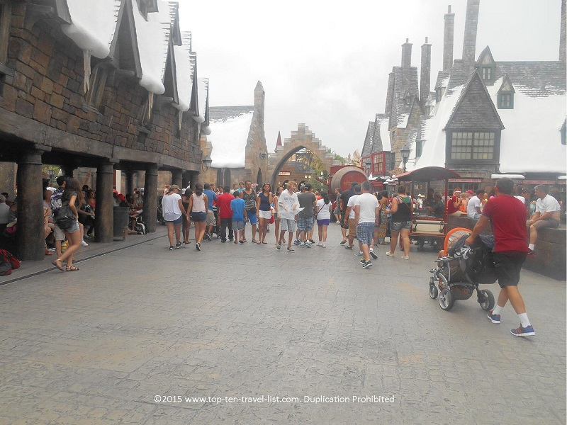 Strolling around Hogsmeade The Wizarding World of Harry Potter at Islands of Adventure in Orlando, Florida