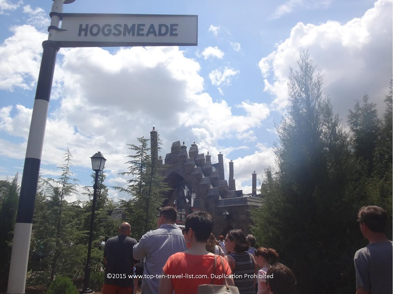 Hogsmeade sign at Islands of Adventure - The Wizarding World of Harry Potter - Orlando, Florida