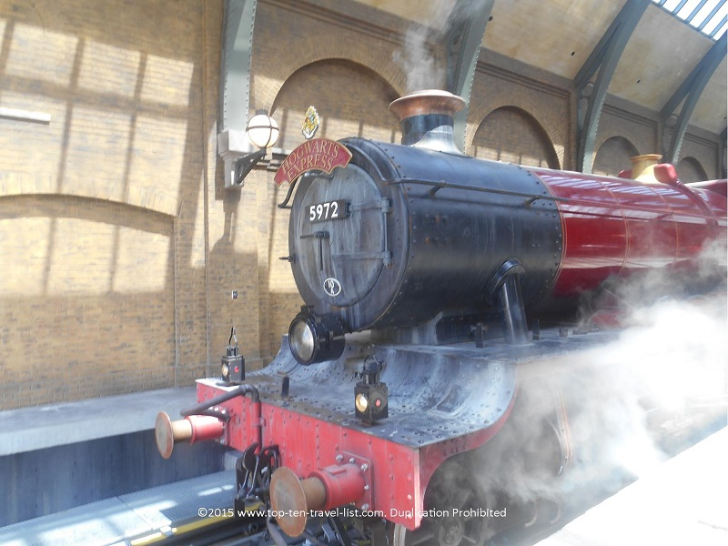 The Hogwarts Express at King's Cross Station in Diagon Alley - Universal Studios in Orlando, Florida