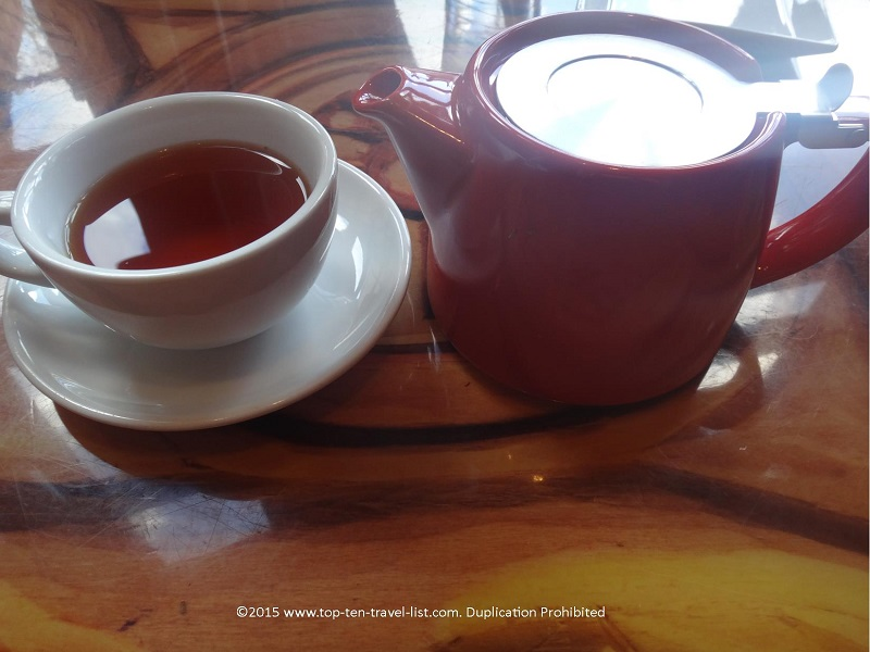 Nothing rounds out a meal at Sanaa quite like a steaming hot pot of Roobios Tea!