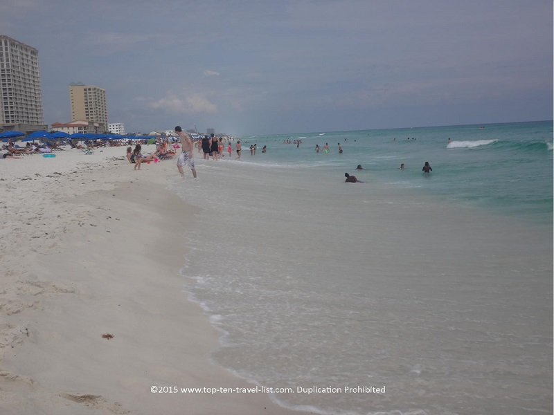 Nothing but beautiful clear water and soft white sand to be found at Pensacola Beach!