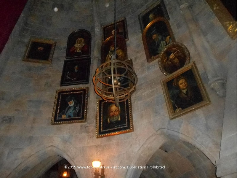 The wait through Hogwarts castle is amazing! The talking portraits are great!