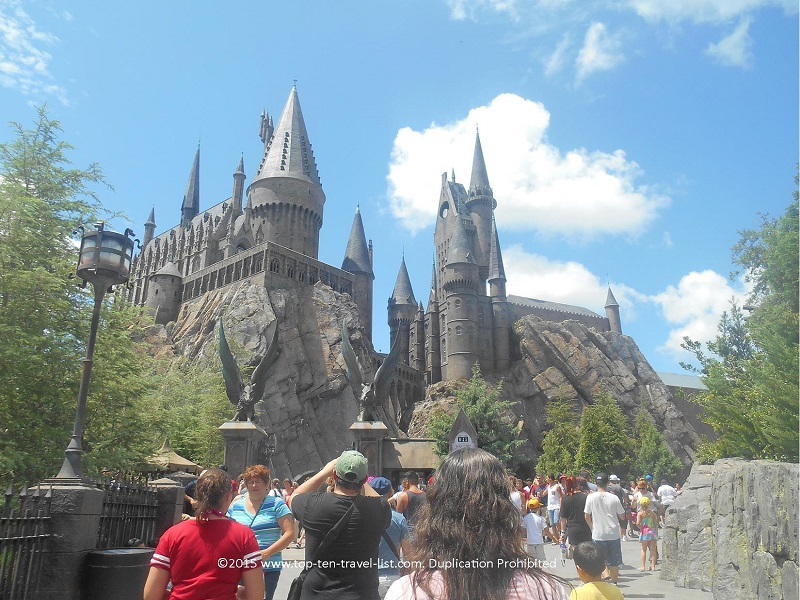 The beautiful Hogwarts Castle, located at Islands of Adventure, is home to the original ride: Harry Potter and the Forbidden Journey.