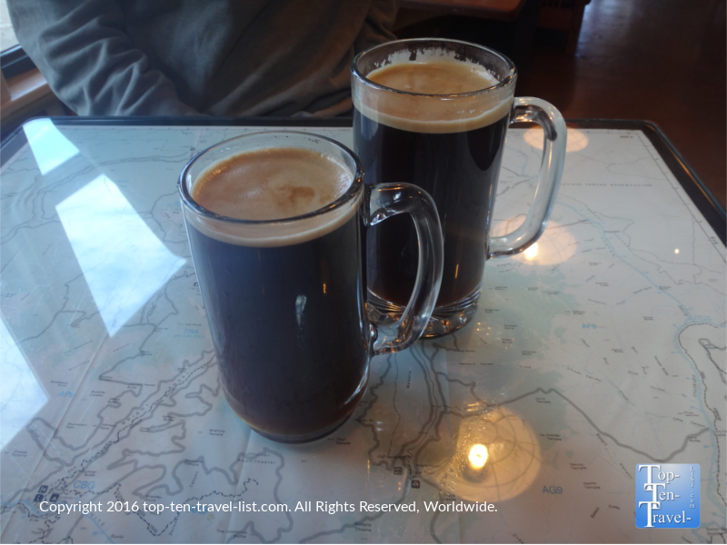 Late for the Train is a local roaster, and is your best bet for a fantastic espresso drink!