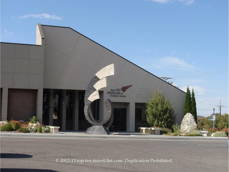 The Art Museum of Eastern Idaho houses a small, yet impressive collection of works from local artists.