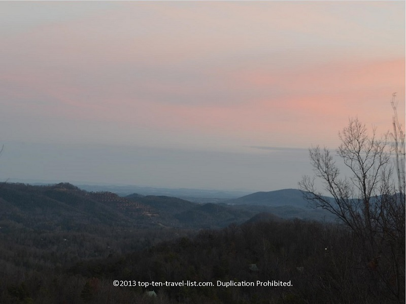 A beautiful sunrise in the Smoky Mountains