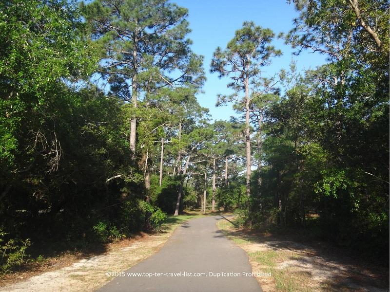 Biking trail at Gulf Coast State Park in Alabama