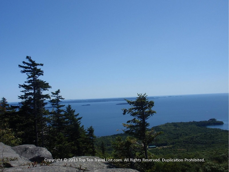 Beautiful views at Camden Hills State Park in Maine