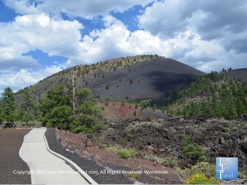 The Lava Flow Trail at Sunset Crater National Park near Flagstaff, Arizona