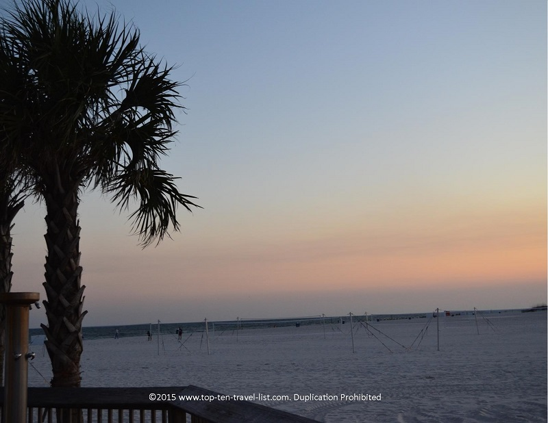 Sunset at a beautiful Gulf Shores, Alabama beach