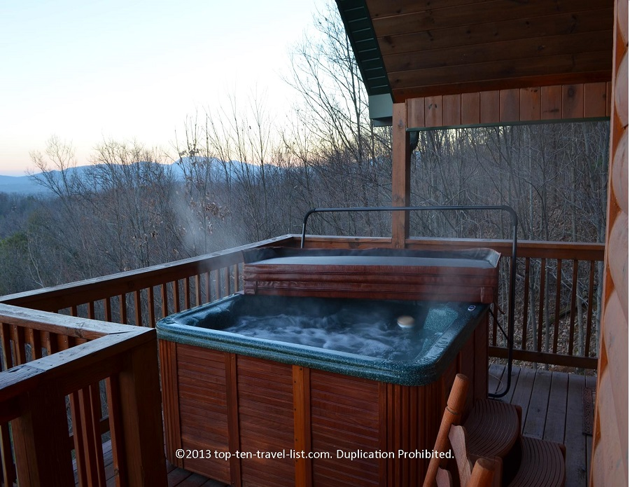Relaxing with a view of the beautiful Smokies!