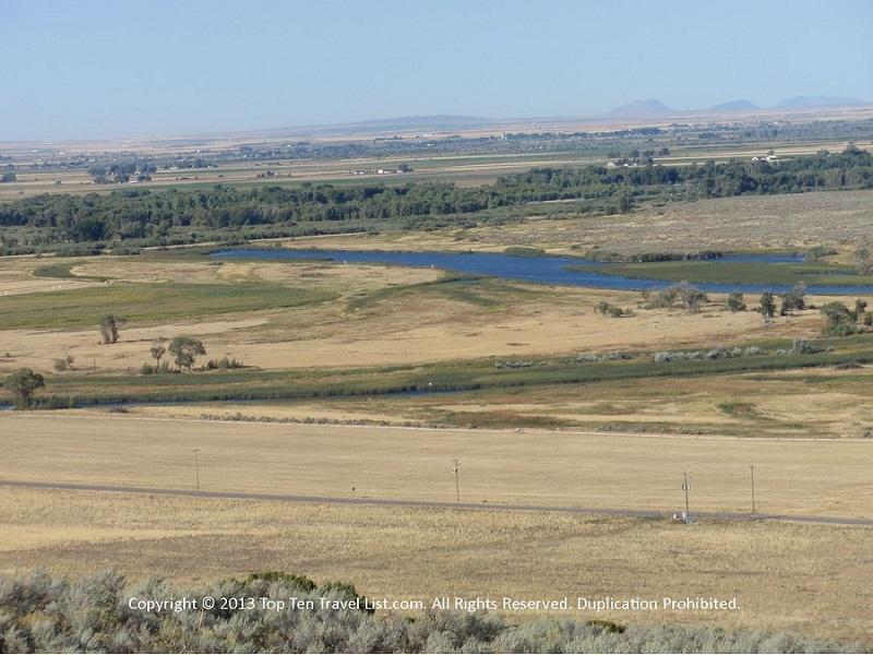 """Gorgeous views from Rexburg's """"R"""" mountain."""