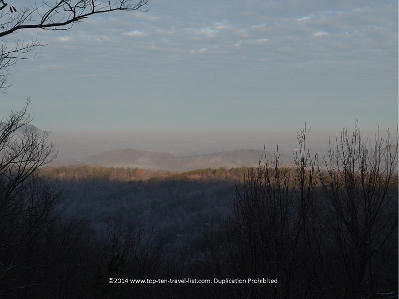 Early morning views of the Smokies.