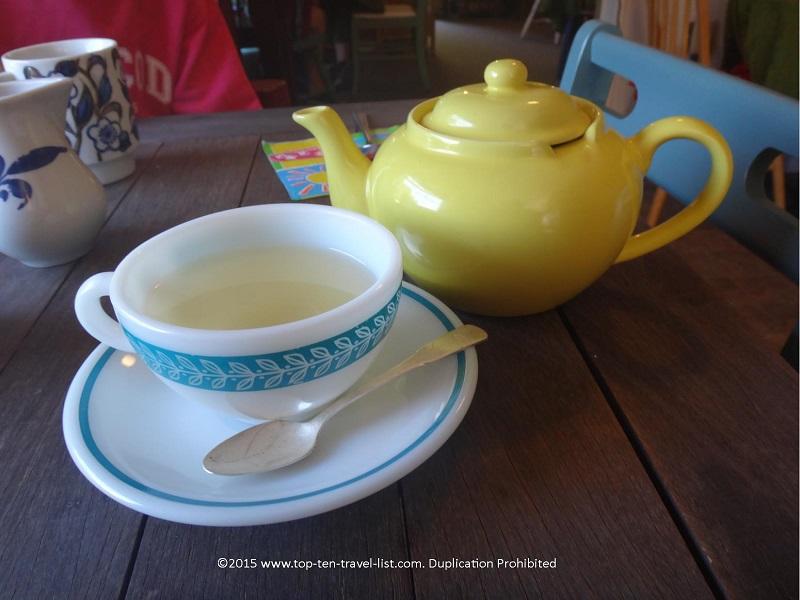Hot tea at Copper Kettle Tea Bar in Foley, Alabama