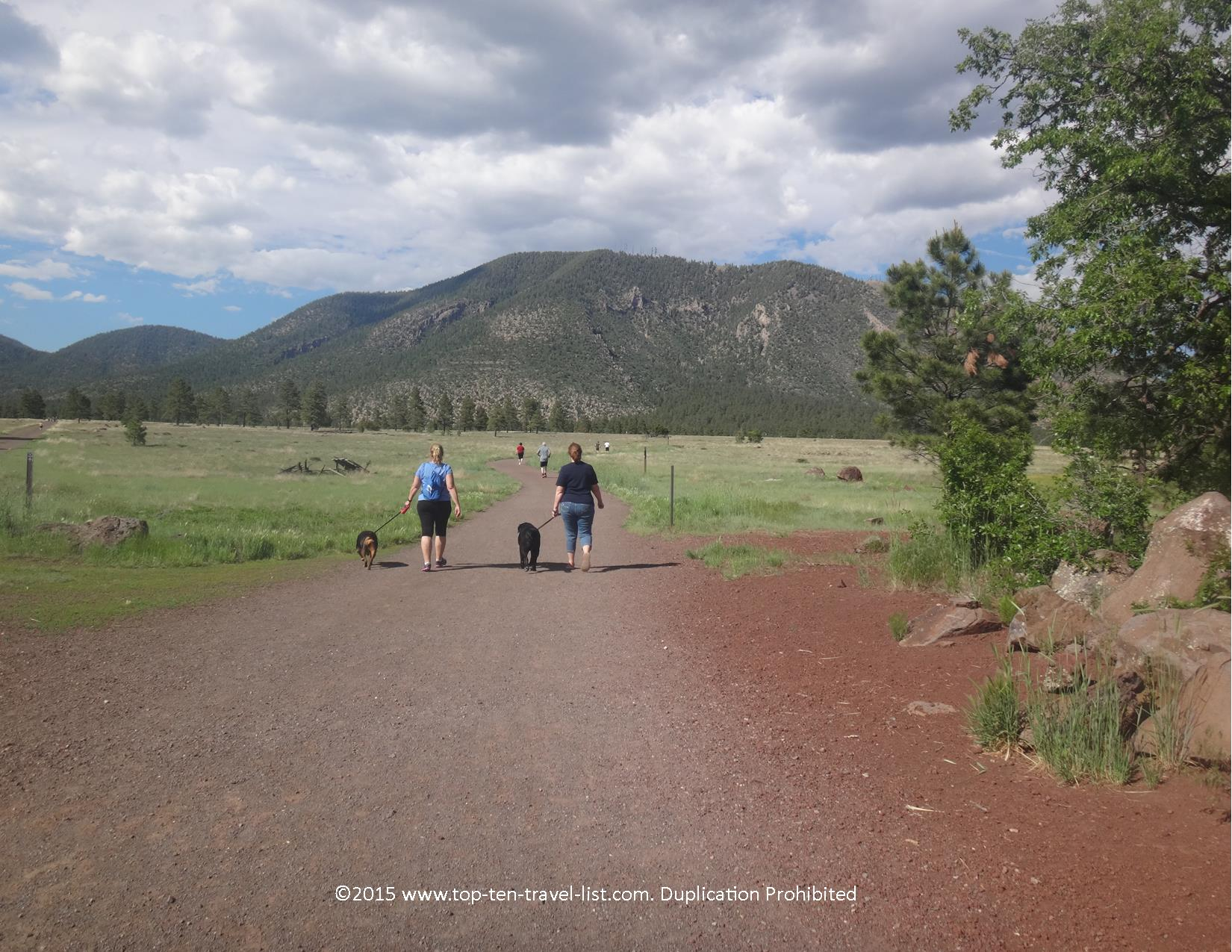 Buffalo Park is a nice easy 2 mile loop trail for everyone, featuring the best views in town of Mt. Elden and the San Francisco Peaks.
