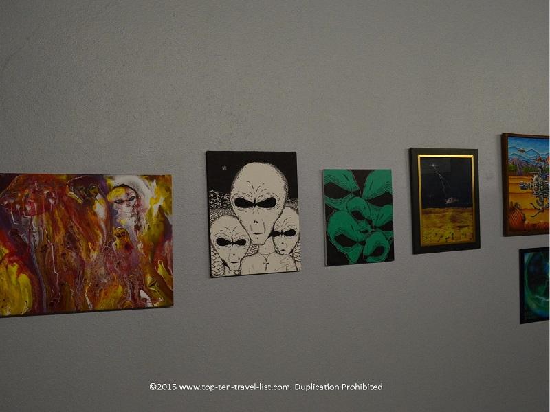 Alien art at Roswell UFO Museum