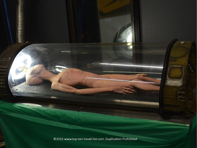 Alien exhibit at Roswell UFO Museum