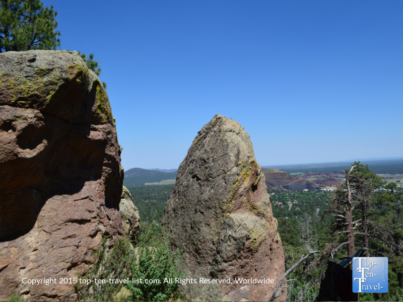 Cool rock formation along Fatman's loop in Flagstaff, Arizona
