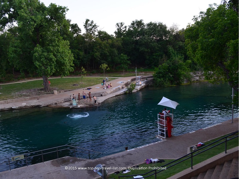 Barton Springs Pool in Austin, Texas