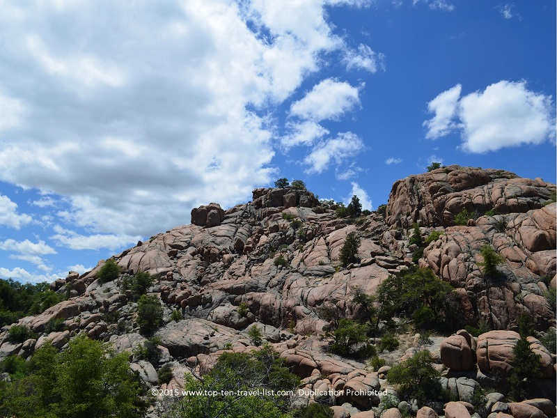 Pretty boulders along the Peavine National Recreational Trail in Prescott, Arizona