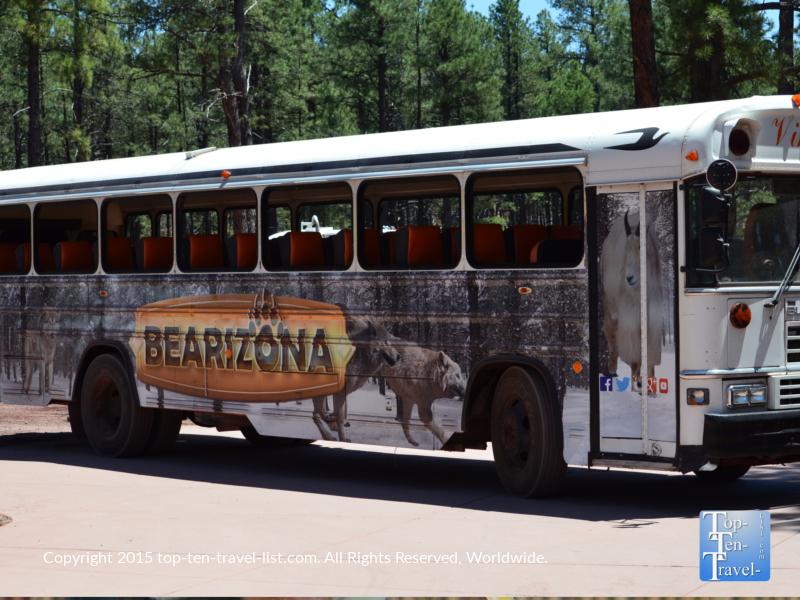 The Bearizona Wild Bus tour in Williams, Arizona