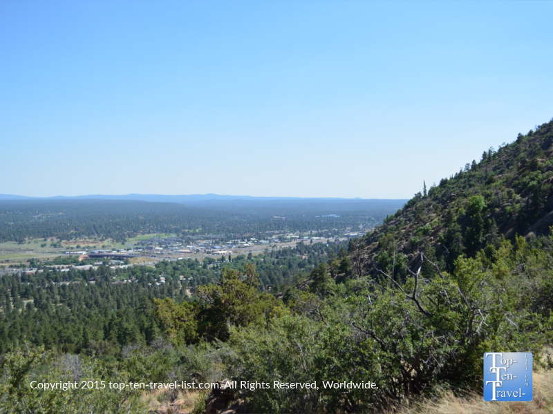 More pretty city views from Fatman's loop trail in Flagstaff, Arizona