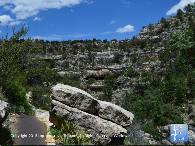 The Island Trail at Walnut Canyon National Monument in Flagstaff, Arizona