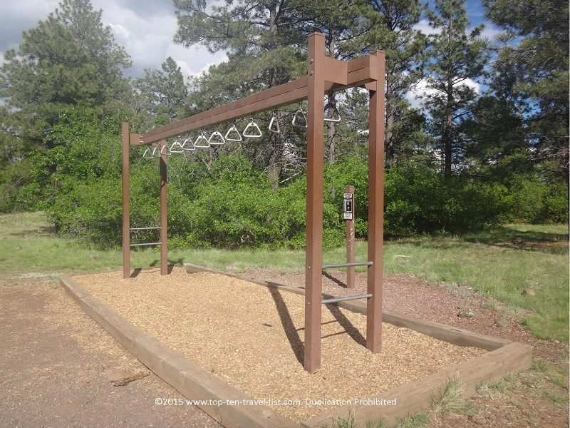 Fitness station along the 2 mile loop at Buffalo Park - Flagstaff, Arizona