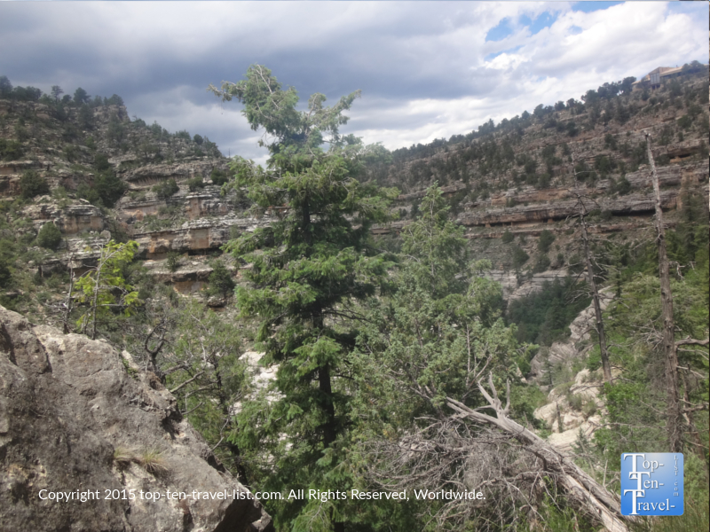 Beautfiul views along the Island Trail at Walnut Canyon National Monument in Flagstaff, Arizona