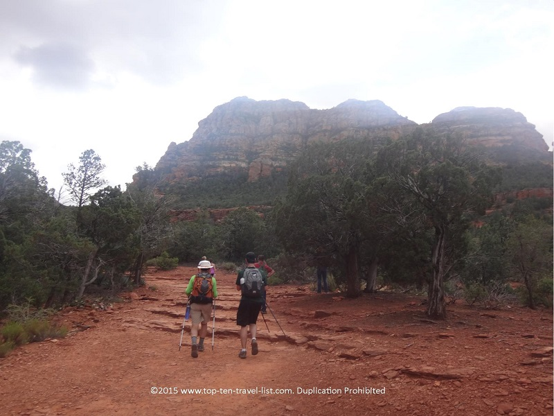 Hiking the Devil's Bridge trail in Sedona, Arizona