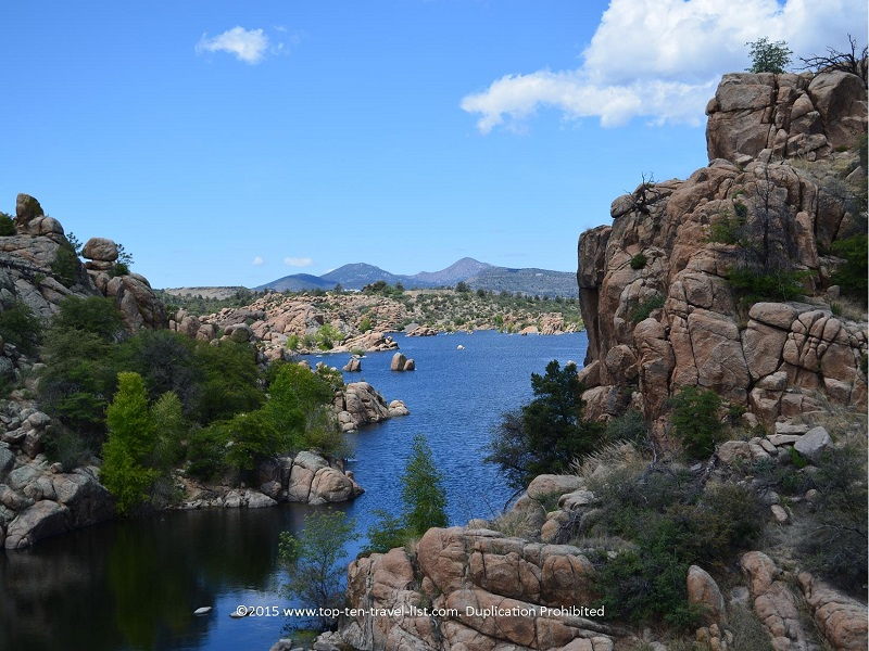 Scenic lake views on the Peavine National Recreational Trail in Prescott, Arizona