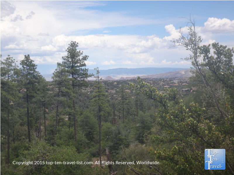 Gorgeous mountain views from the Thumb Butte trail in Prescott, Arizona