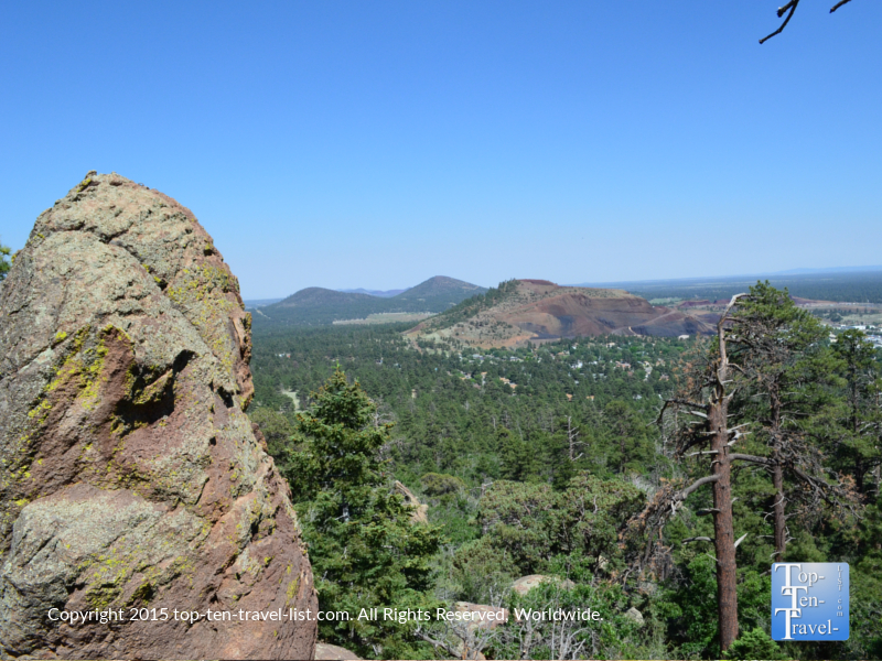 Scenic views from the summit of Fatman's Loop in Flagstaff, Arizona
