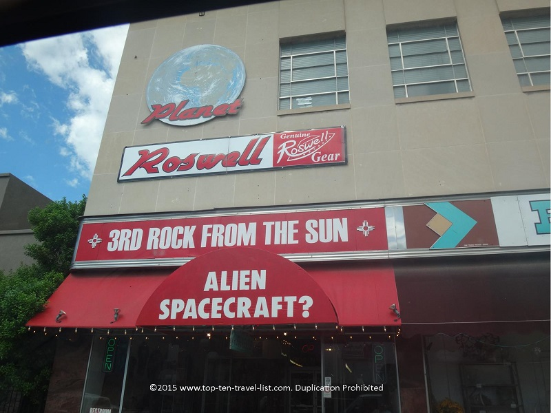 Alien shop in Roswell, New Mexico
