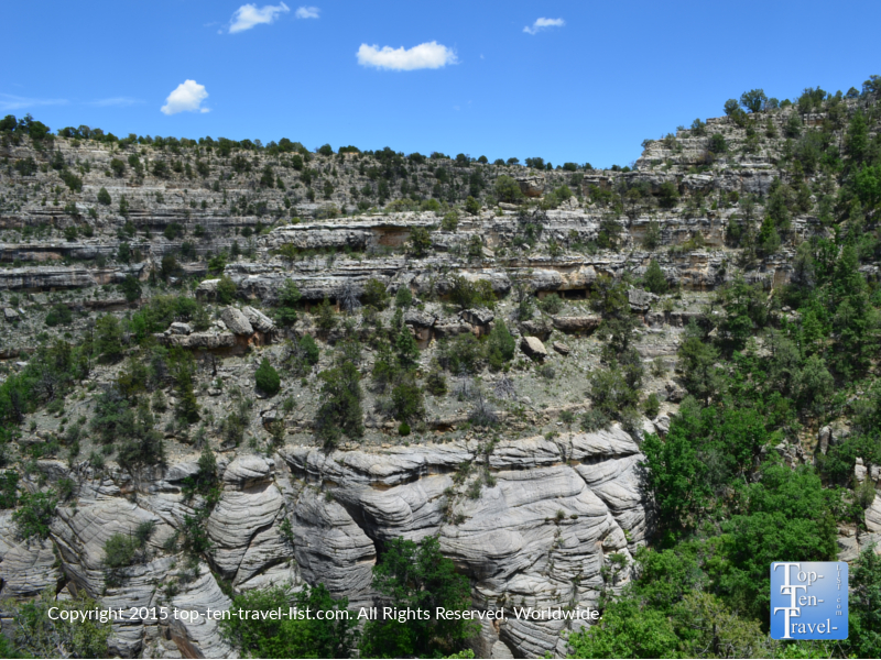 Beautitful views on the Island Trail at Walnut Canyon National Monument in Flagstaff, Arizona
