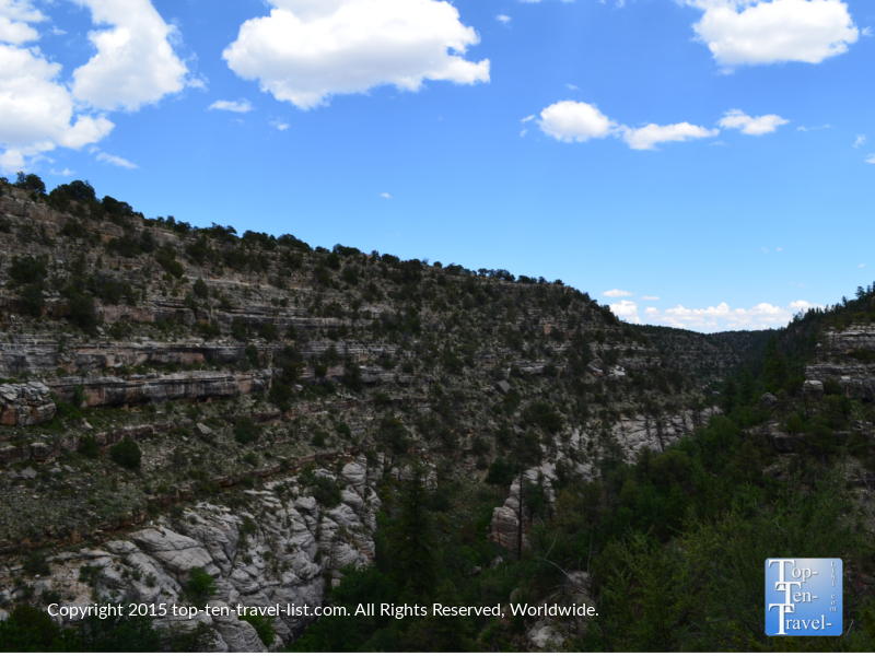 Pretty views on the Island trail at Walnut Canyon National Monument in Flagstaff, Arizona