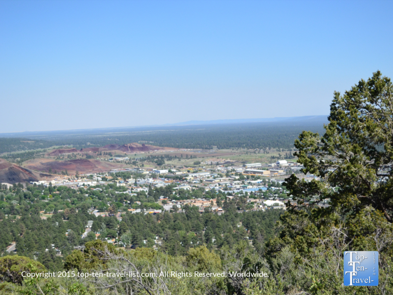 Views of Flagstaff from Fatman's loop trail in Flagstaff, Arizona