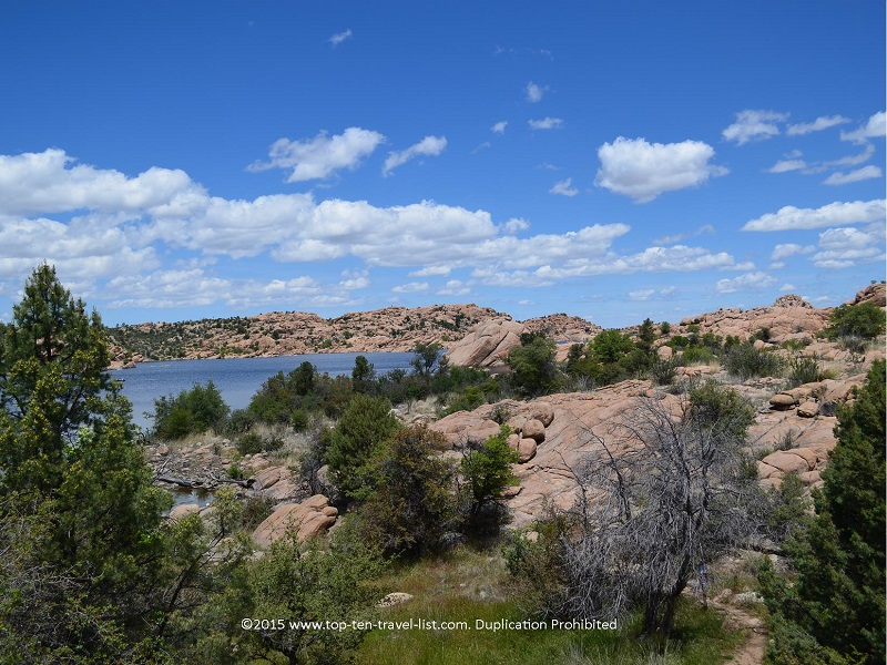 Gorgeous lake views along the Peavine National Recreational Trail in Prescott, Arizona