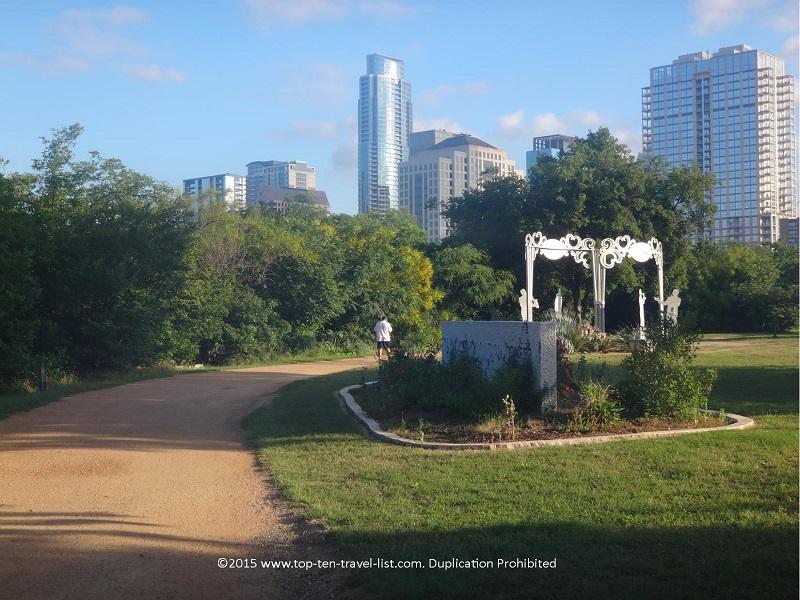 Pretty skyline views along Austin's Lady Bird Lake trail