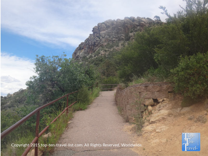 The uphill climb to Thumb Butte in Prescott, Arizona
