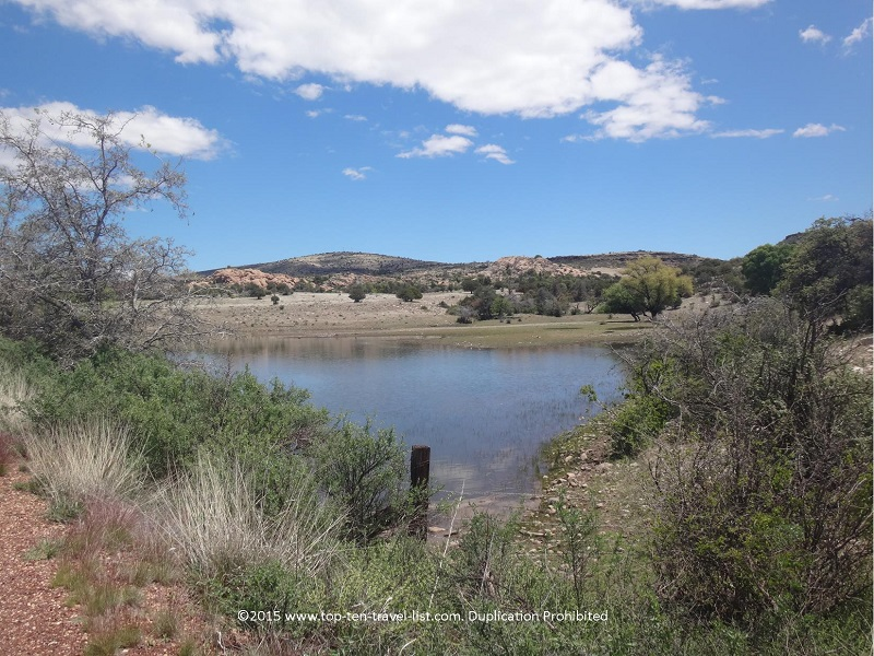 Gorgeous lake views from the Peavine National Recreational Trail in Prescott, Arizona