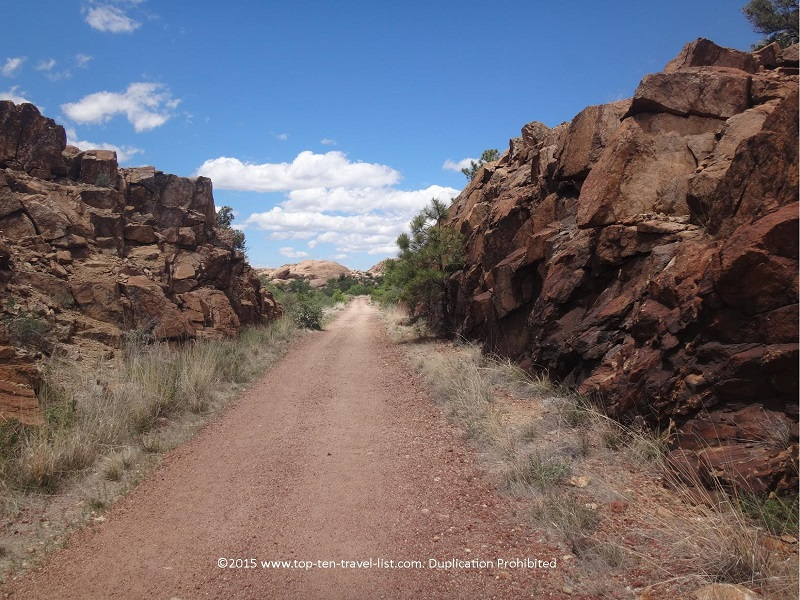 Pretty rock formations along the Peavine National Recreational Trail in Prescott, Arizona