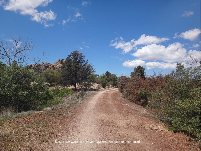 Secluded views along the Peavine National Recreational Trail in Prescott, Arizona