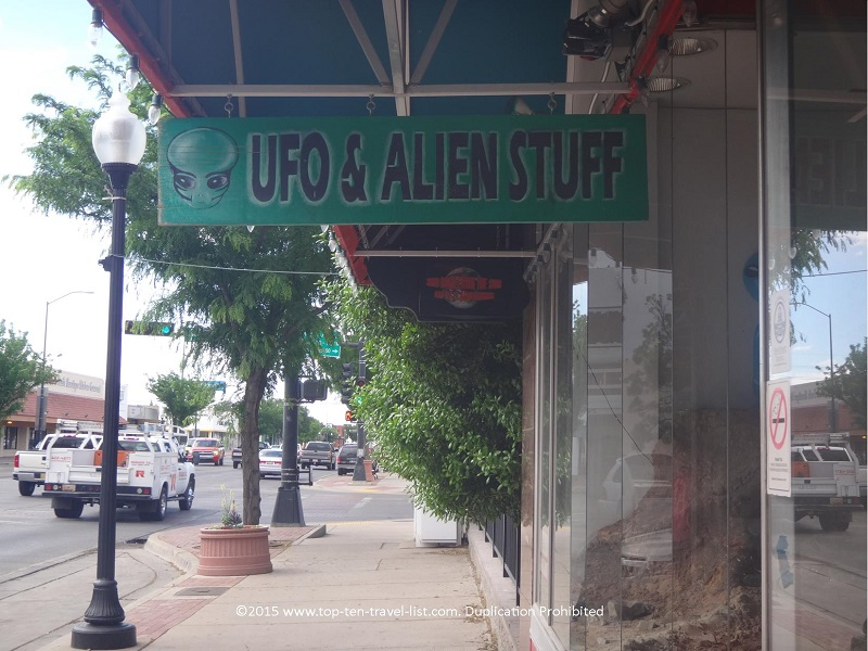 UFO and Alien gift shop in Roswell, New Mexico