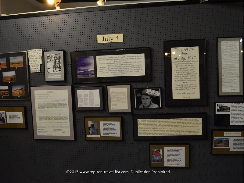 Testimonials at Roswell UFO Museum