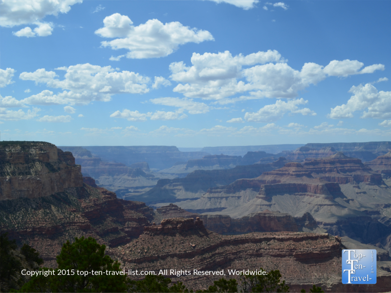 Beautiful views of the Grand Canyon from the Rim Trail