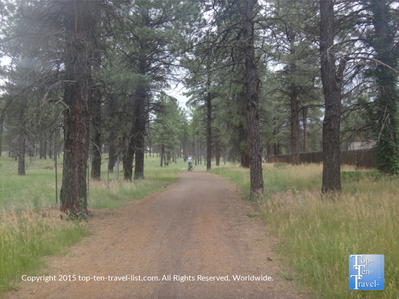 Biking the FUTS at Fort Tuthill County Park in Flagstaff, Arizona