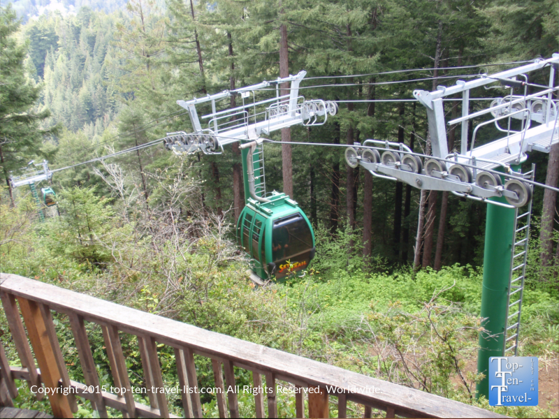 Sky Trail tram ride at Trees of Mystery in Klamath, California