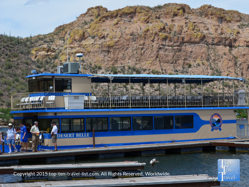 Desert Belle cruises on Saguaro Lake in the Tonto National Forest - Mesa, Arizona