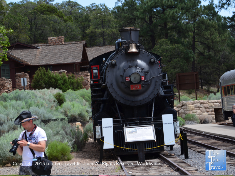 The Grand Canyon Railway Depot at the South Rim